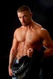 Cambiamento dell'uomo del muscolo fotografia stock