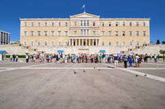 Cambiamento della cerimonia delle guardie, Atene, Grecia Immagine Stock