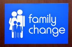 Cambiamento della famiglia Fotografia Stock