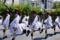 Cambiamento della guardia a Atene Grecia Fotografie Stock Libere da Diritti