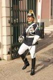 Cambiamento della guardia. Palazzo presidenziale. Lisbona. Il Portogallo Fotografia Stock