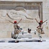 Cambiamento della protezione a Atene Immagine Stock