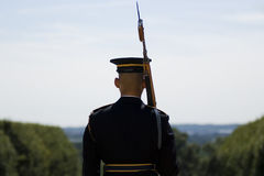 Cambiamento della protezione nel cimitero di Arlington Fotografia Stock Libera da Diritti
