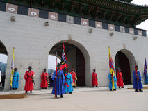 Cambiamento delle guardie in Gwanghwamun, Corea Fotografia Stock