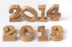 Cambiamento di anno 2013 a 2014 Fotografia Stock Libera da Diritti