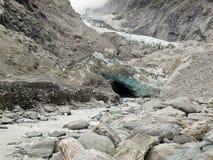 Cambiamento di clima, ghiaccio del ghiacciaio di fusione e roccia pura Immagine Stock Libera da Diritti