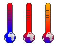 Cambiamento di clima: riscaldamento globale illustrazione vettoriale