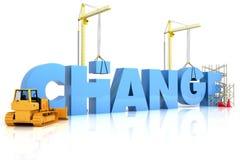 Cambiamento di costruzione Fotografia Stock