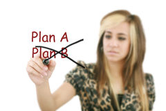 Cambiamento di strategia del business plan Immagini Stock Libere da Diritti