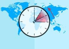 Cambiamento di tempo Fotografia Stock
