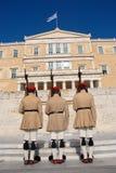 Cambiamento greco della guardia presidenziale, Atene Fotografia Stock