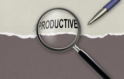 Cambiando la parola improduttiva per produttivo Fotografia Stock Libera da Diritti