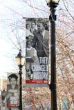 Cambiaron la muestra en Lorraine Motel, Memphis Tennessee de la historia Imágenes de archivo libres de regalías