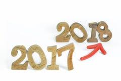 Cambie al Año Nuevo 2018 Imagen de archivo libre de regalías
