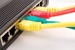 Cambie con los cables conectados fotografía de archivo libre de regalías