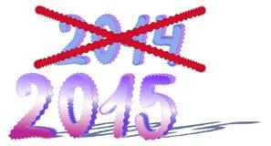 Cambie el año Imagen de archivo