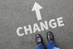 Cambie el concepto cambiante de los cambios de la vida del trabajo del trabajo fotos de archivo libres de regalías