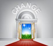 Cambie el concepto de la puerta Foto de archivo libre de regalías