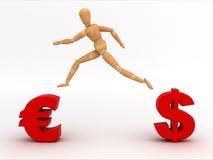 Cambie el dinero en circulación (con el camino de recortes) Foto de archivo