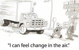 Cambie en el aire ilustración del vector