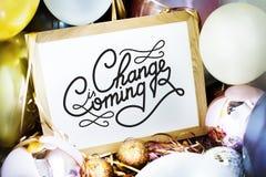 Cambie es resolución del Año Nuevo que viene Fotografía de archivo