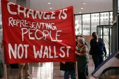 Cambie está representando a la gente no Wall Street Fotografía de archivo