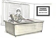 Cambie a la gerencia Fotografía de archivo libre de regalías