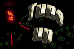 Cambie la luz del motor del servicio del petróleo adaptan para arriba Foto de archivo