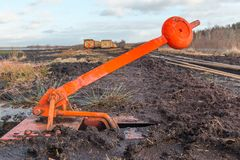 Cambie la palanca de un ferrocarril del campo imagen de archivo libre de regalías