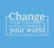 Cambie su cartel del vector de los pensamientos Imágenes de archivo libres de regalías