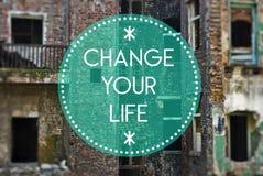 Cambie su vida nueva, concepto que comienza Fotografía de archivo