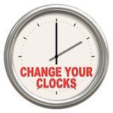 Cambie sus relojes Imagen de archivo libre de regalías
