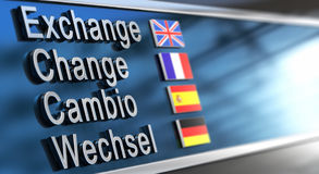 Cambio, change, exchange, Wechsel Royalty Free Stock Image