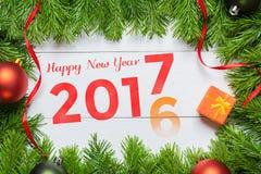 cambio de 2016 años al concepto 2017 Feliz Año Nuevo Fotografía de archivo libre de regalías