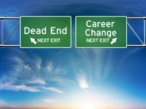 Cambio de carrera o concepto de trabajo del callejón sin salida. stock de ilustración