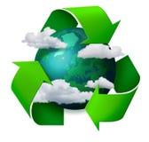 Cambio de clima que recicla concepto stock de ilustración