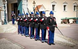 Cambio de Guardin Monte Carlo, Mónaco Fotografía de archivo