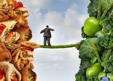Cambio de la dieta Imágenes de archivo libres de regalías