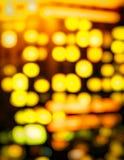 Cambio de la inclinación de las luces de la ciudad Imagen de archivo