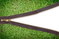 Cambio de las cremalleras de los conceptos de la textura de la hierba verde Imagen de archivo