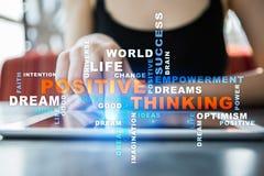 Cambio de pensamiento positivo de la vida Concepto del asunto Nube de las palabras foto de archivo