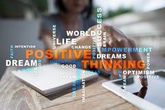 Cambio de pensamiento positivo de la vida Concepto del asunto Nube de las palabras fotos de archivo libres de regalías