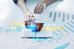 Cambio de pensamiento positivo de la vida Concepto del asunto Nube de las palabras imagen de archivo libre de regalías