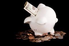 Cambio de torneado en el dinero verdadero Imágenes de archivo libres de regalías