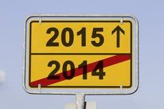 Cambio del año Imagen de archivo libre de regalías