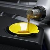 Cambio del aceite Imagen de archivo libre de regalías