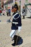 Cambio del guardia en Lisboa, Portugal Fotos de archivo libres de regalías