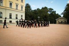 Cambio del guardia en Oslo Noruega Foto de archivo libre de regalías
