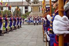 Cambio del guardia, palacio presidencial, Quito Fotografía de archivo libre de regalías