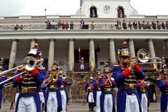 Cambio del guardia, palacio presidencial, Quito Imagen de archivo libre de regalías